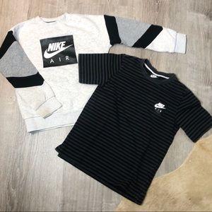 Boys Nike Air Sweatshirt, Tee Bundle S